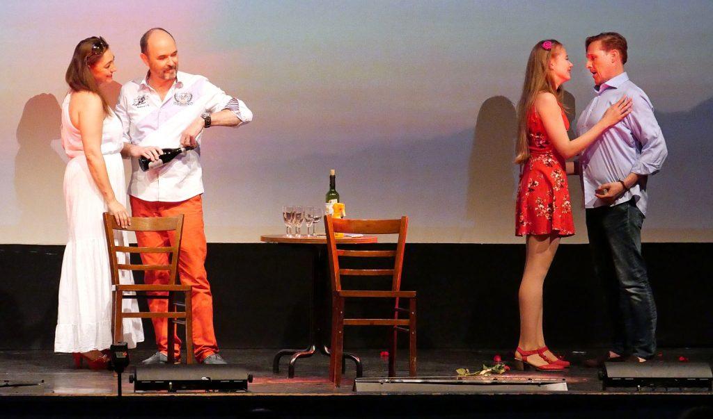 Ilona Nymoen mit Thomas Peter und Daria Kalinina mit Ralf Simon © Foto Mario Kacner